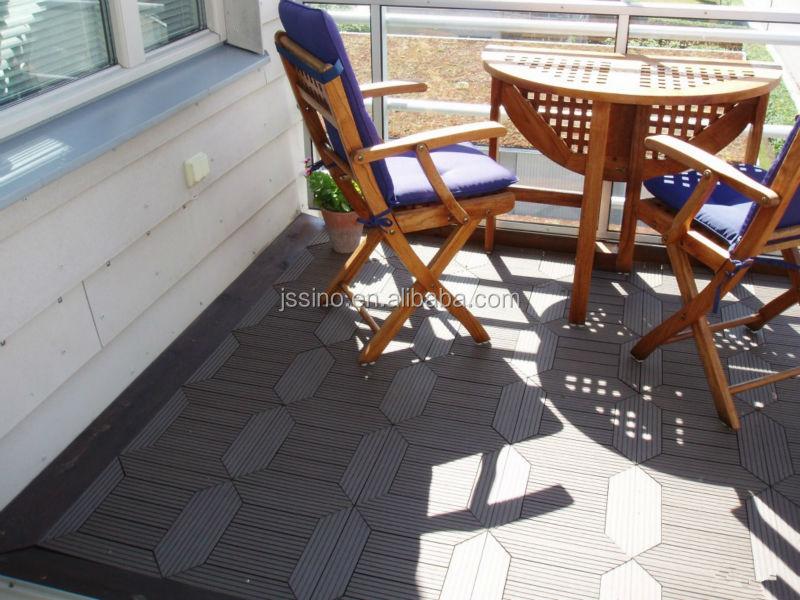 Wood Plastic Outdoor Deck Interlocking Plastic Floor Tiles For Balcony/patio /bathroom