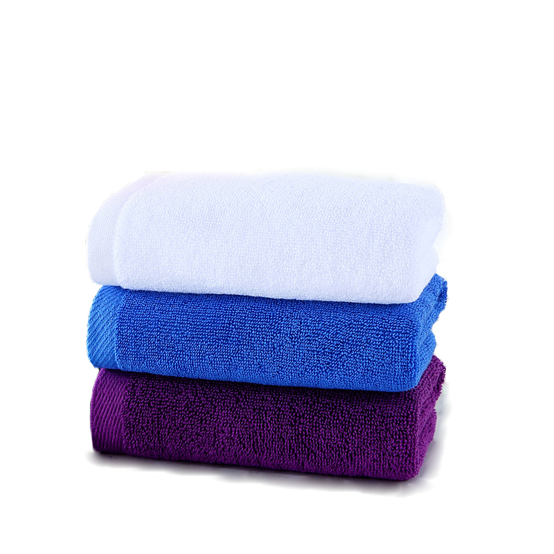 Free Sample rectangular dying gym towel cotton for travel/hotel/home use