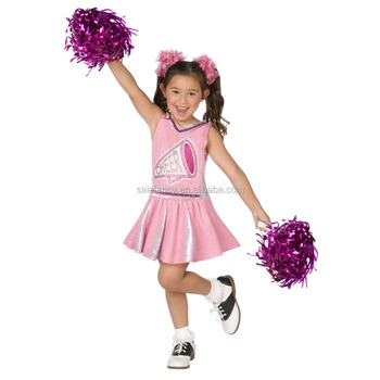 Fantastic Pink Cheerleader Girl Costume Children's Halloween Party ...
