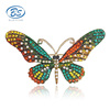 BC17Y034M2 New fashion design diamond butterfly alloy brooches diamond korean brooch colorful fashion rhinestone crystal brooch