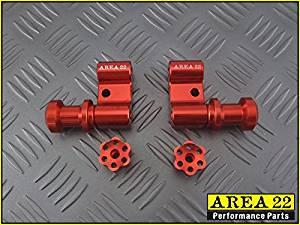 Area 22 2014/2015 Honda MSX125 Grom Swingarm Spool Mounts Bobbins (Red)