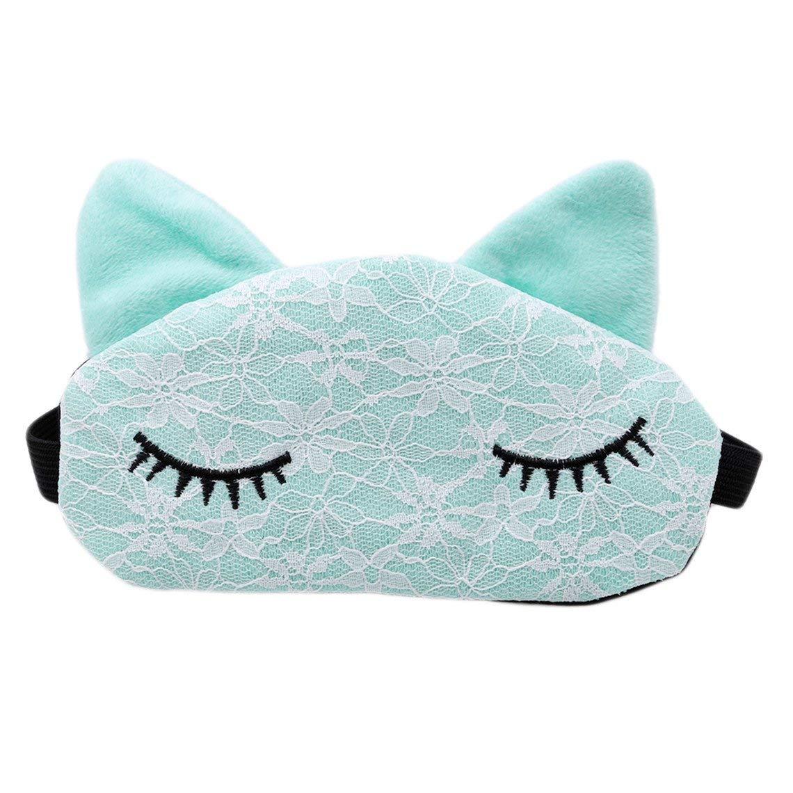 d75e6c535 Get Quotations · Rurah Cute Women Ladies Comfortable Sleep Blindfold Mask  Lace Eye Cover Travel Sleeping Blinder Mask Night
