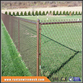 Brown Vinyl Coated Tension Wire Chain Link Fence Installation Buy