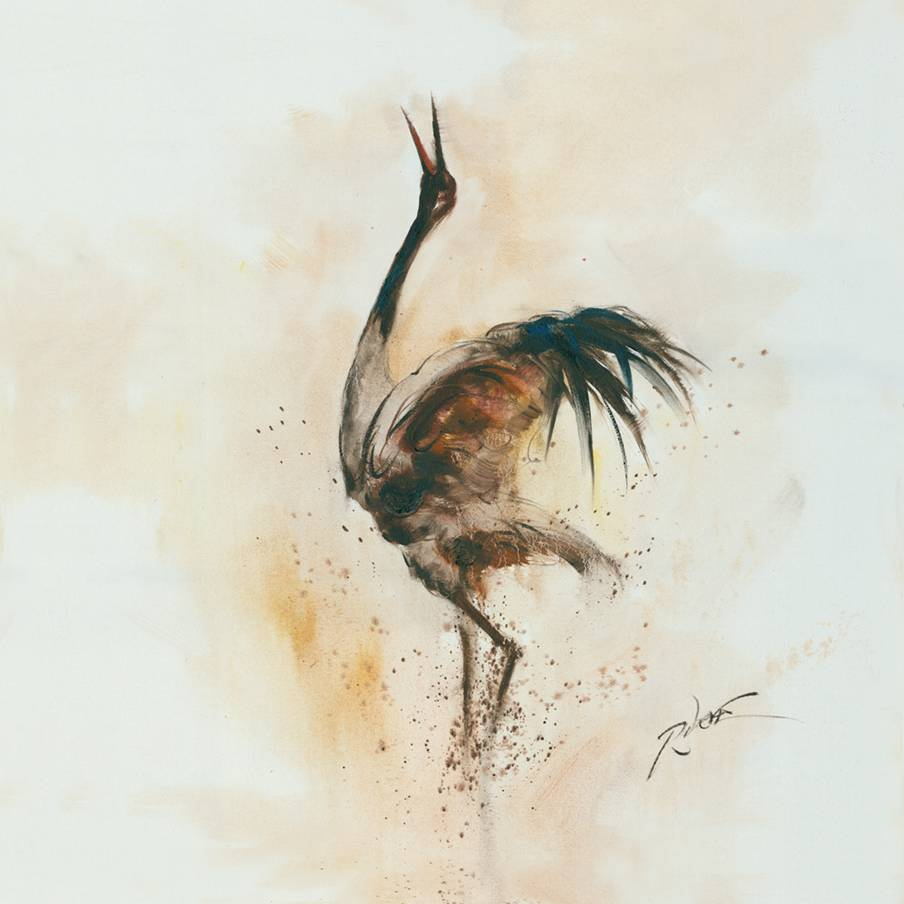 Heron Crane Bird Spread the Wing Prints On Canvas Animal <strong>Pictures</strong> Oil Wall Art Painting For Home Modern Decoration Print Deco