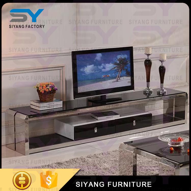 acero inoxidable esquina muebles tv gabinete para el hogar ds