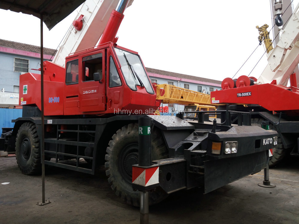 rough terrain self-propelled crane kato KR-500 for sale best price 50 ton