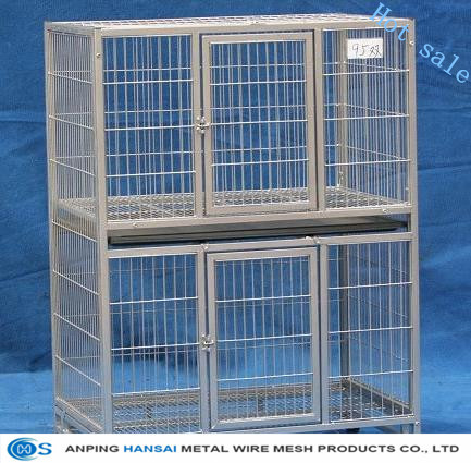 bird cages Hot sale of galvanized rabbiit cage, welded cage for female and baby rabbits