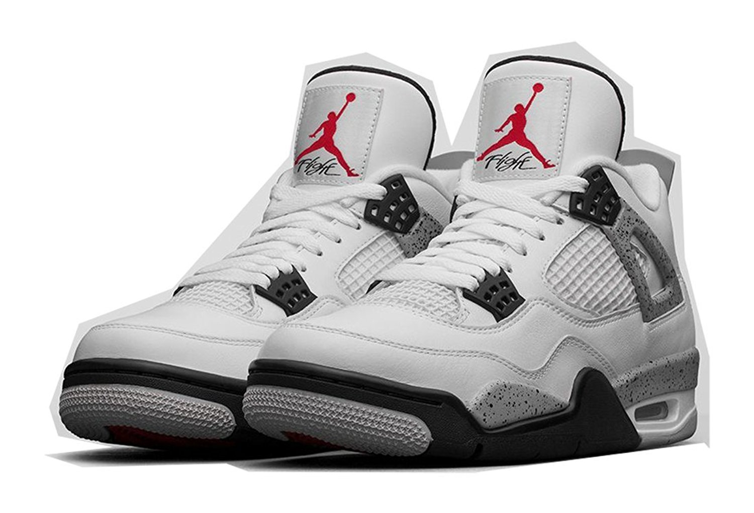"61a335e435b8f0 Get Quotations · Nike Air Jordan 4 OG ""White Cement"" White Fire Red-Black-"