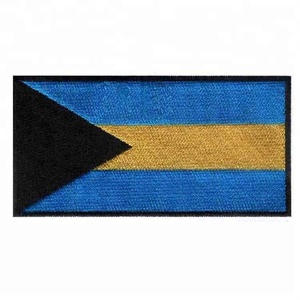 High quality fashion accessories Bahamas islands badges small flag patches
