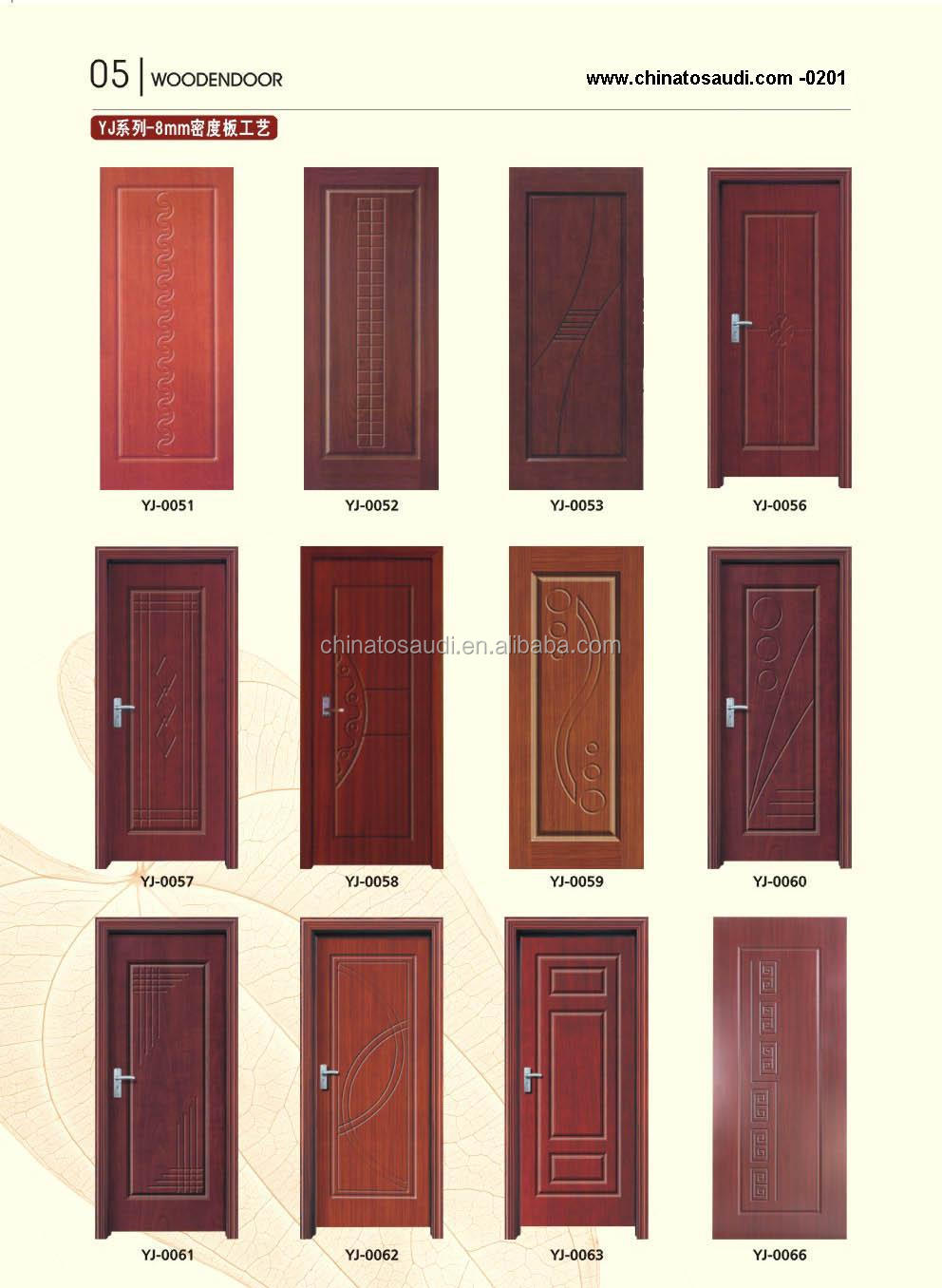 2015 High Quality Wooden Door Main Design Teak Wood Designs