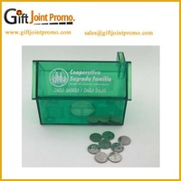 Promotional Logo designed house shaped coin bank/money box