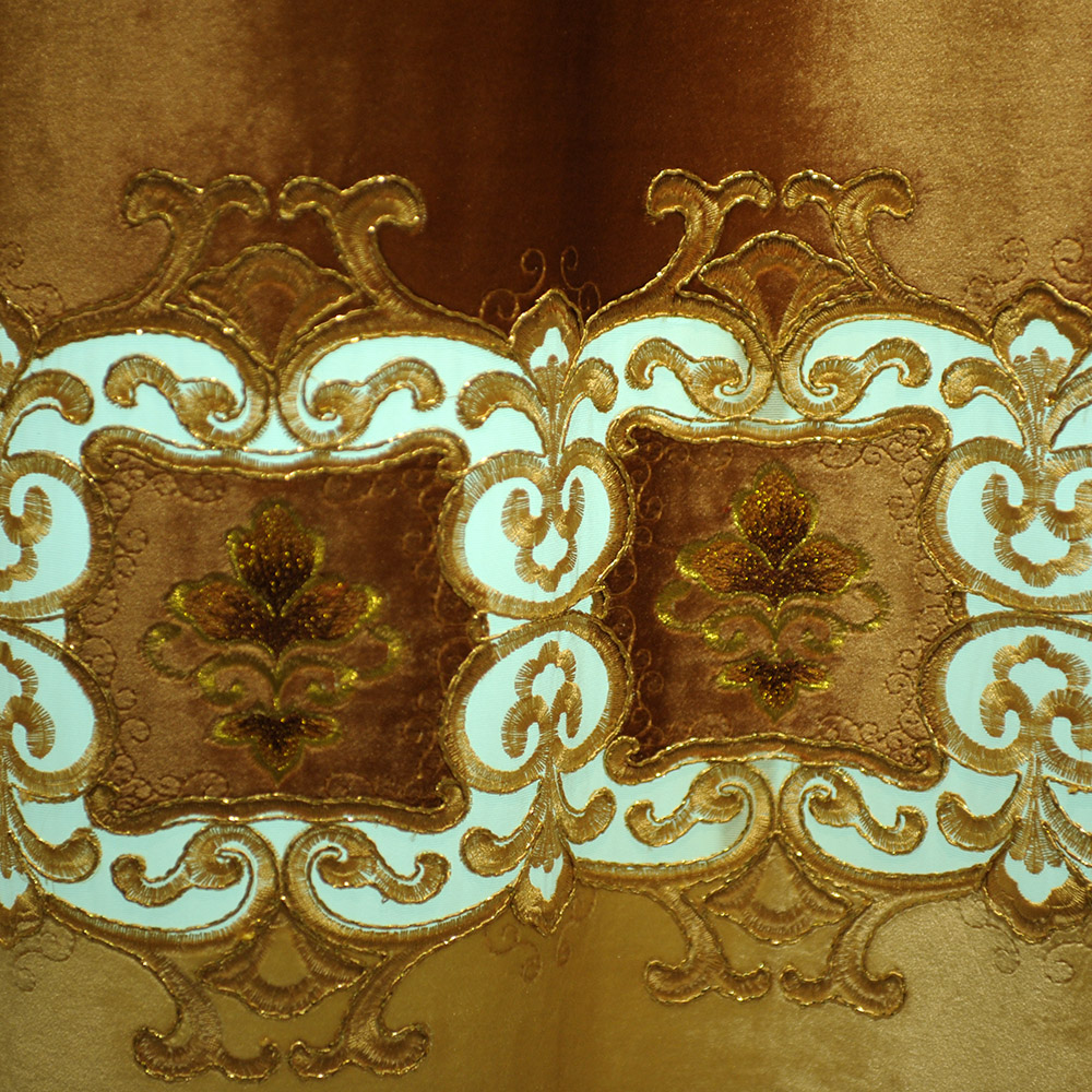 Europese high end geborduurde gordijn draperie interieur decor ...