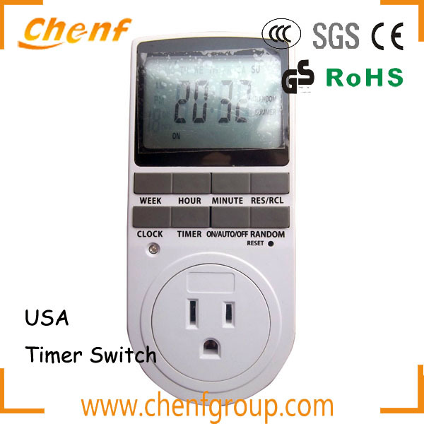 Hot Sell LCD Display automatic USA timer switch socket for energy saving