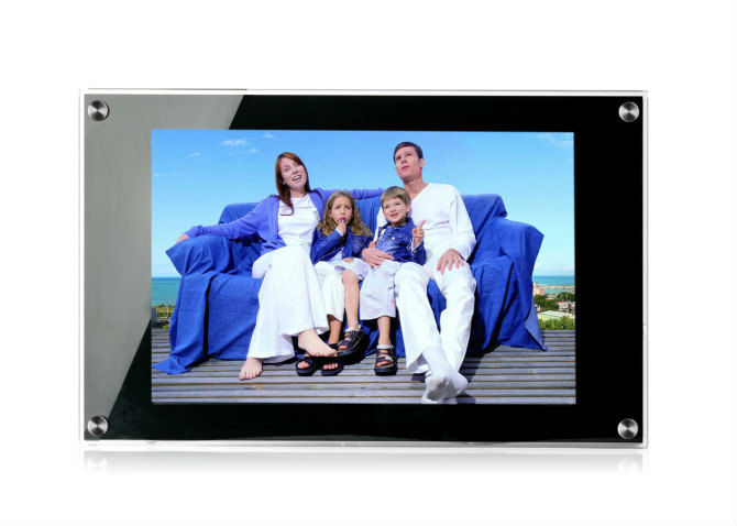 WIFI network 15.6 inch super thin LCD AD totem display for elevator