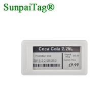 red-white-balck digital esl e-paper module label for supermarket