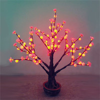 Shengjia Height 0.8M LED Bonsai TREE flower decoration restaurants designs images