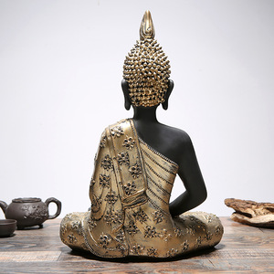 2018 new design poly resin handcraft gold small whole sale buddha head decor