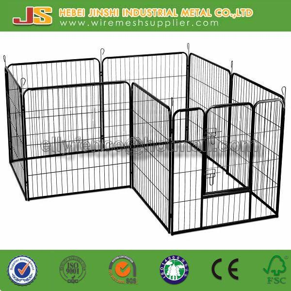8 panels pet exercise enclosure play pen with tube edge