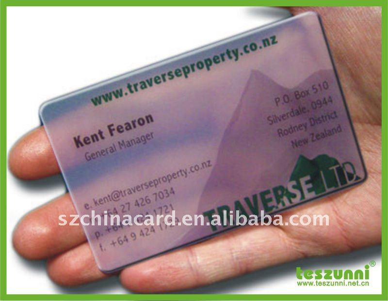 Frosted Clear Pvc Business Card Printing One Side - Buy Clear Pvc ...