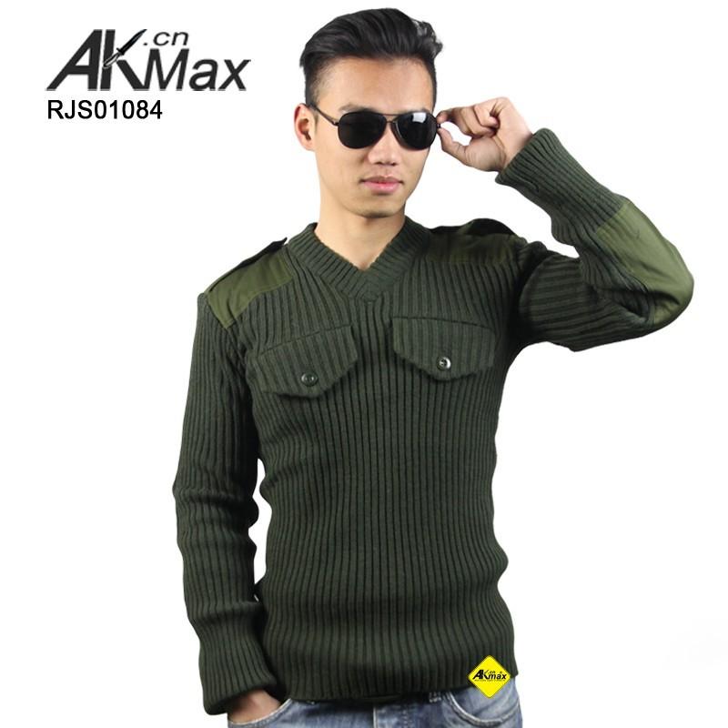 Original Arab Army Issue Wool Men's Military Sweater