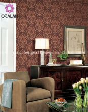 Type and Classic Style leather wallpaper 3d wall panel/ 3D wall covering panels