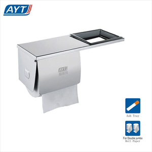 Bathroom stainless steel toilet roll paper dispenser