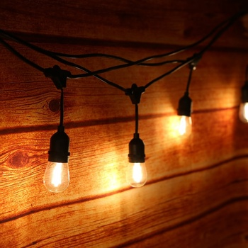 Christmas Lights Fairy Garland Patio Light Outdoor Waterproof Vintage IP65 G40 Festoon Led Clear Globe Ball String Light