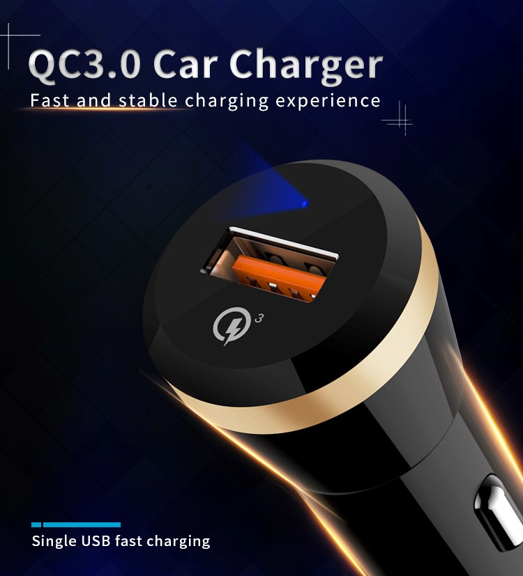 Qualcomm car charger QC3.0 USB quick charge 18W fast Car Charger