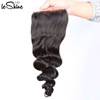 Thick Silk Base Human Hair Closure With Baby Hairs Brazilian Raw Virgin 100 Cuticle Aligned Rem Loose Hair