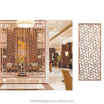Lobi Hotel Berlubang Layar Room Dividers Pabrik Tiongkok Desain Parion Untuk Dapur