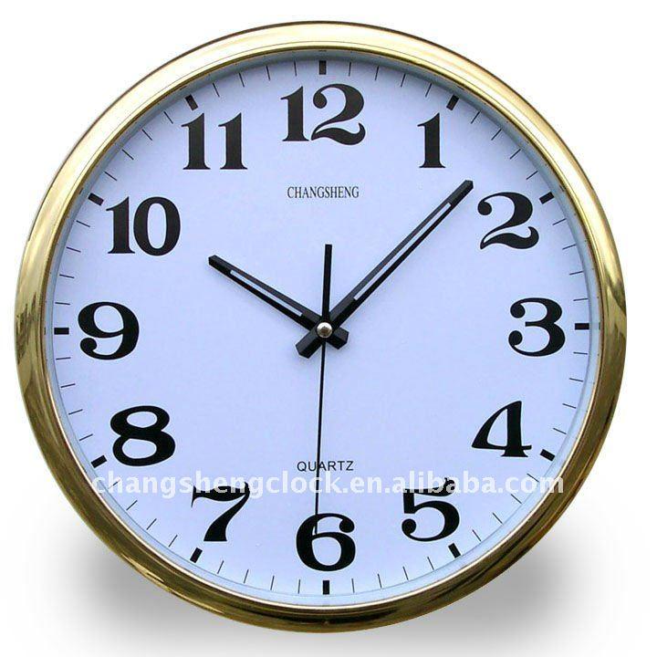 Oro reloj de pared de oficina el ctrico de la pared - Relojes de pared ...