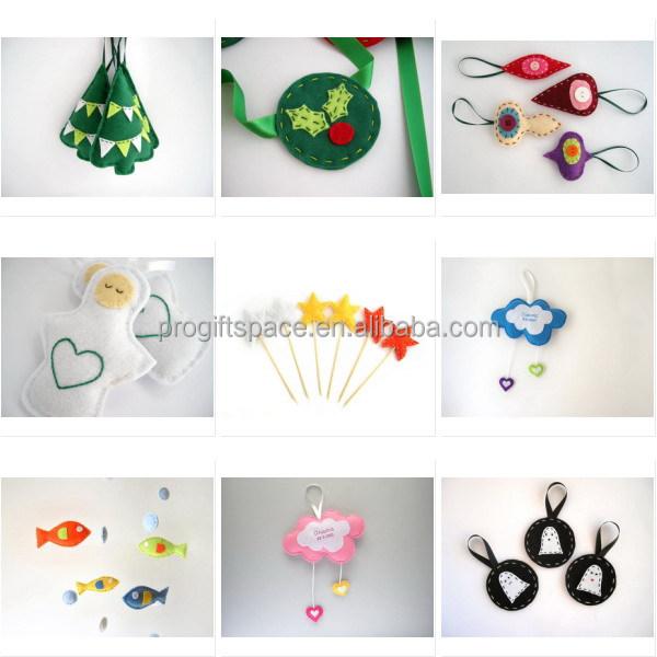 2017 New Hot Sale China Product Handmade Fabric Red Ornament Felt ...