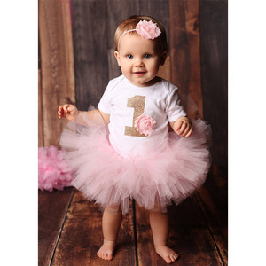1st First Birthday Boutique Girl Custom T-shirt Printing Outfit