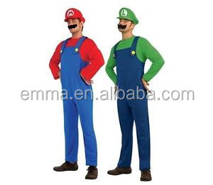Game Super Mario Brothers Halloween Adult Man Cosplay Costumes BMG12955