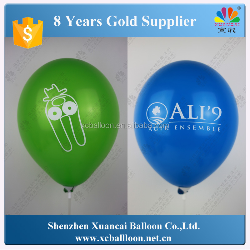 "Hot selling 12"" custom logo latex inflatable ballon for promotion"