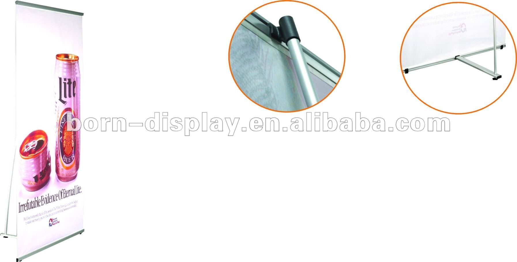 2012 Metal Heavy Tension L Banner Model D with Aluminum Standing Pole