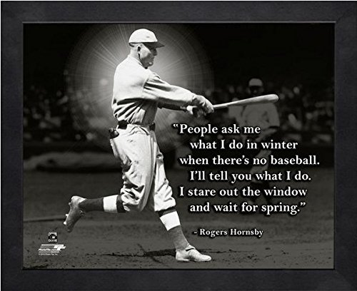 """Rogers Hornsby St. Louis Cardinals Pro Quotes Photo (Size: 9"""" x 11"""") Framed"""