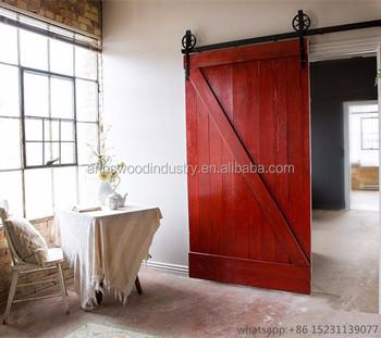 Sliding Barn Wood Door Interior Half Doors With Hardware