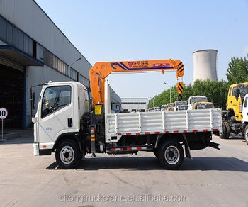 Dongfeng Flatbed Truck With 3 2 Ton Crane Telescopic Boom Truck Mounted