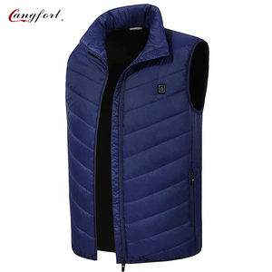 Waterproof Graphene Elderly Full Size Thermal Insulation Polyester Electric Heating Vest