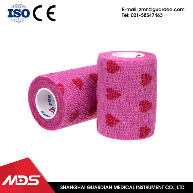 Popular manufacture colored athletic fiber cast zinc oxide adhesive plaster bandage