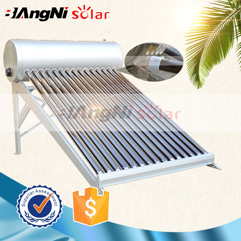 Environment-friendly evacuated tube solar hot water room heater system