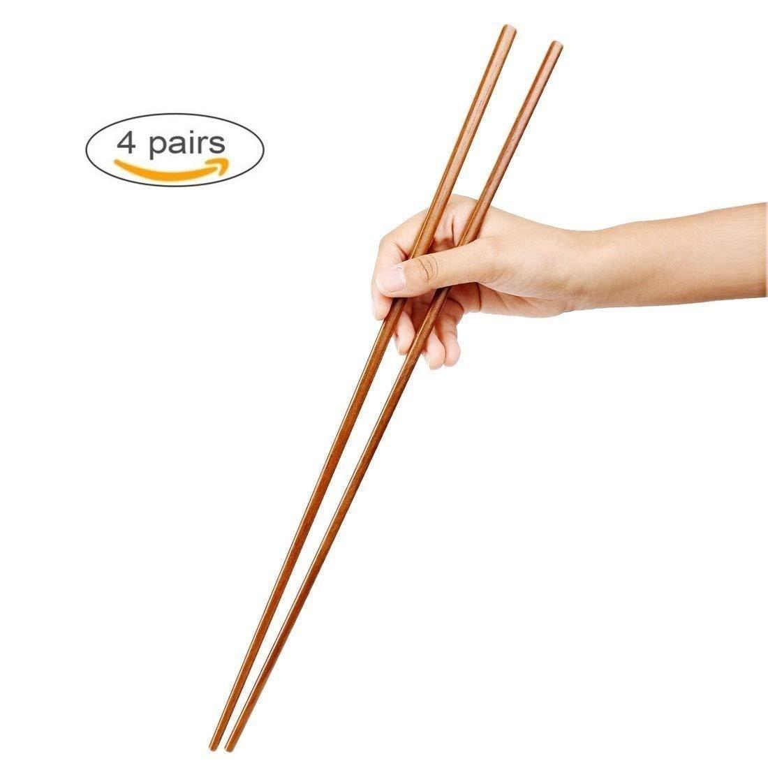 Cedmon Grocery Cooking Wooden Chopsticks, Extra Long Hot Pot Chopsticks,16.5 Inch