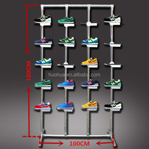 Huohua professional hot selling colorful metal material shoes display cabinet