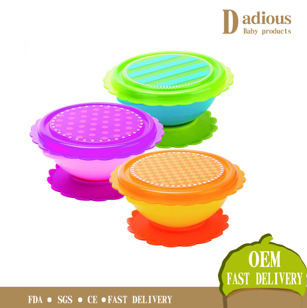 2016 Best baby feeding bowl Heat-Resistance Suction Silicone Baby Bowl