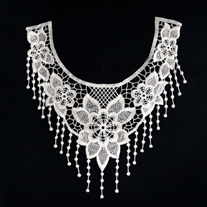 New Design Milk Silk Pearl Beads Lace Collar