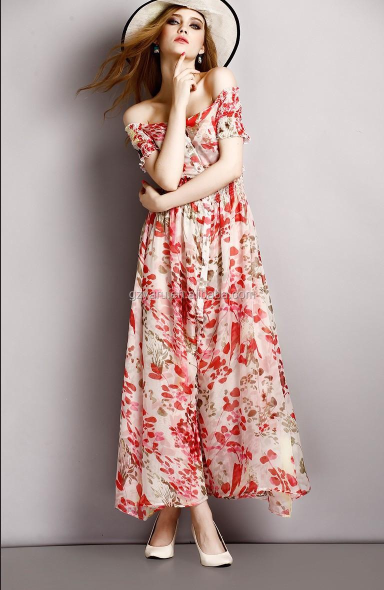 36b801e7c5aa Women summer chiffon floral printed dresses wholesale boho dress clothing  manufacturer bohemian style casual dresses