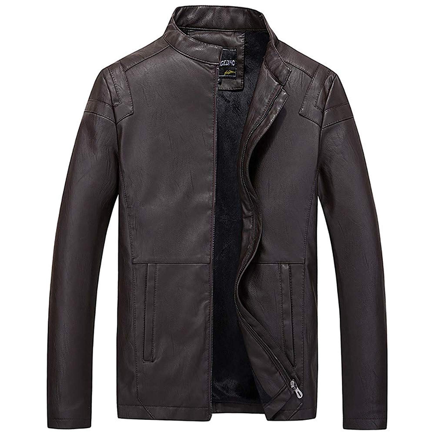 Men's Coat, FORUU Business Casual Cool Cool Motorcycle Leather Jacket Zipper and Fleece Facket