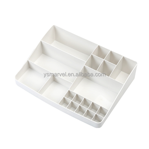 Sub-division cosmetics storage box plastic jewelry lipstick box creative skin care products desktop dressing box