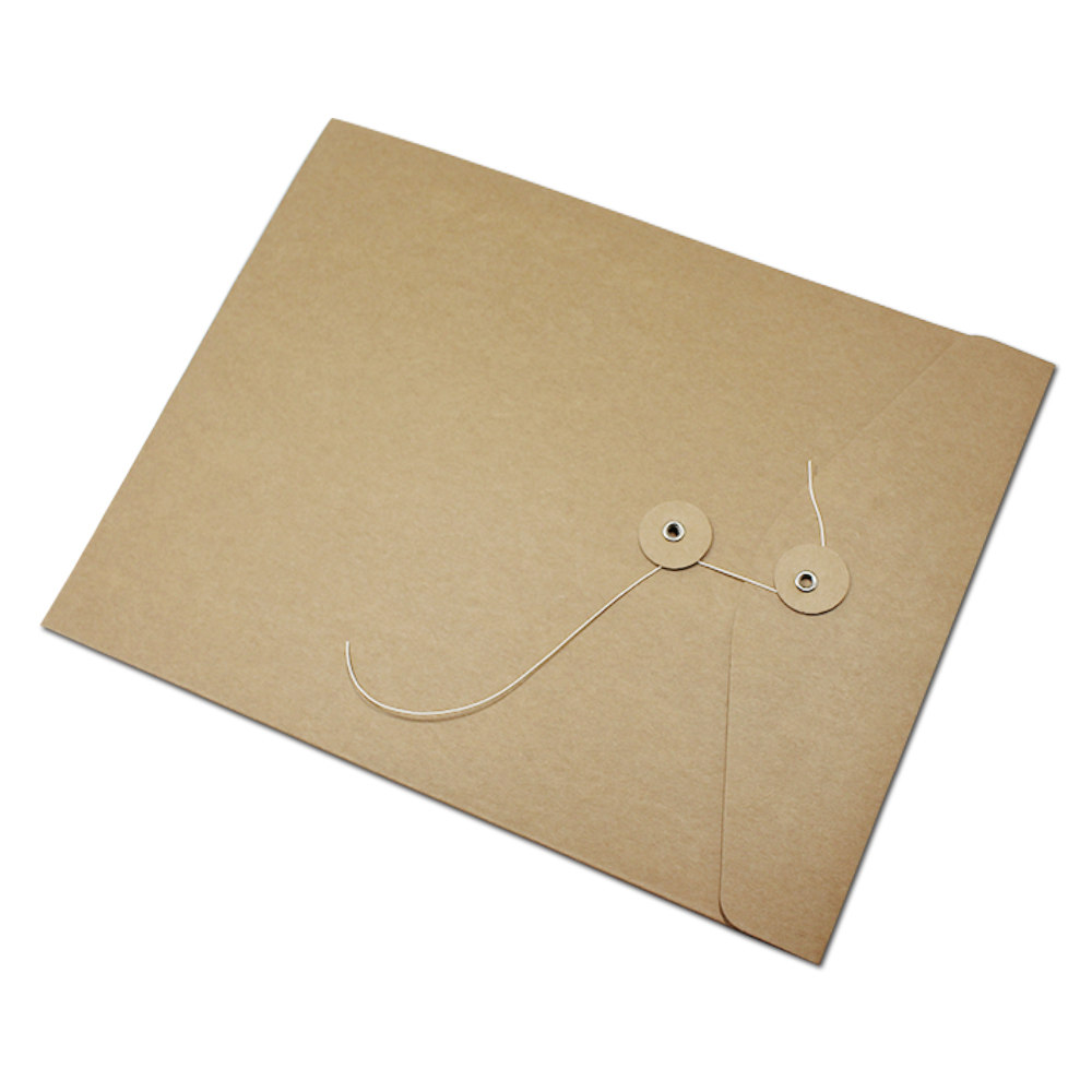Natural Recycled C6 Brown Kraft Envelopes With String Closure Button And  String Kraft Envelopes - Buy Button And String Kraft Envelopes,Button And